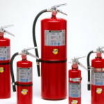 Fire extinguishers, dry chemical fire extinguishers, CO2 fire extinguishers